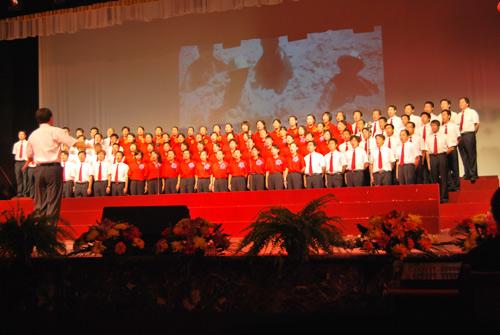 华油钢管公司合唱团参加建国60周年歌咏比赛